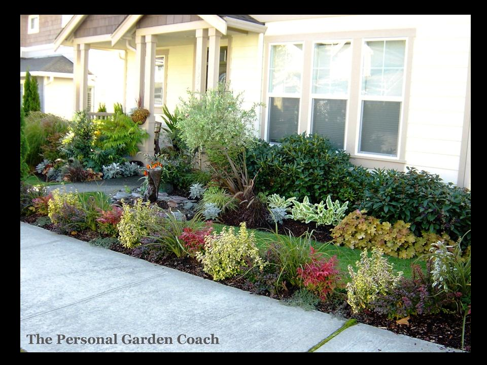 Front yard gardens the personal garden coach for Front lawn landscaping