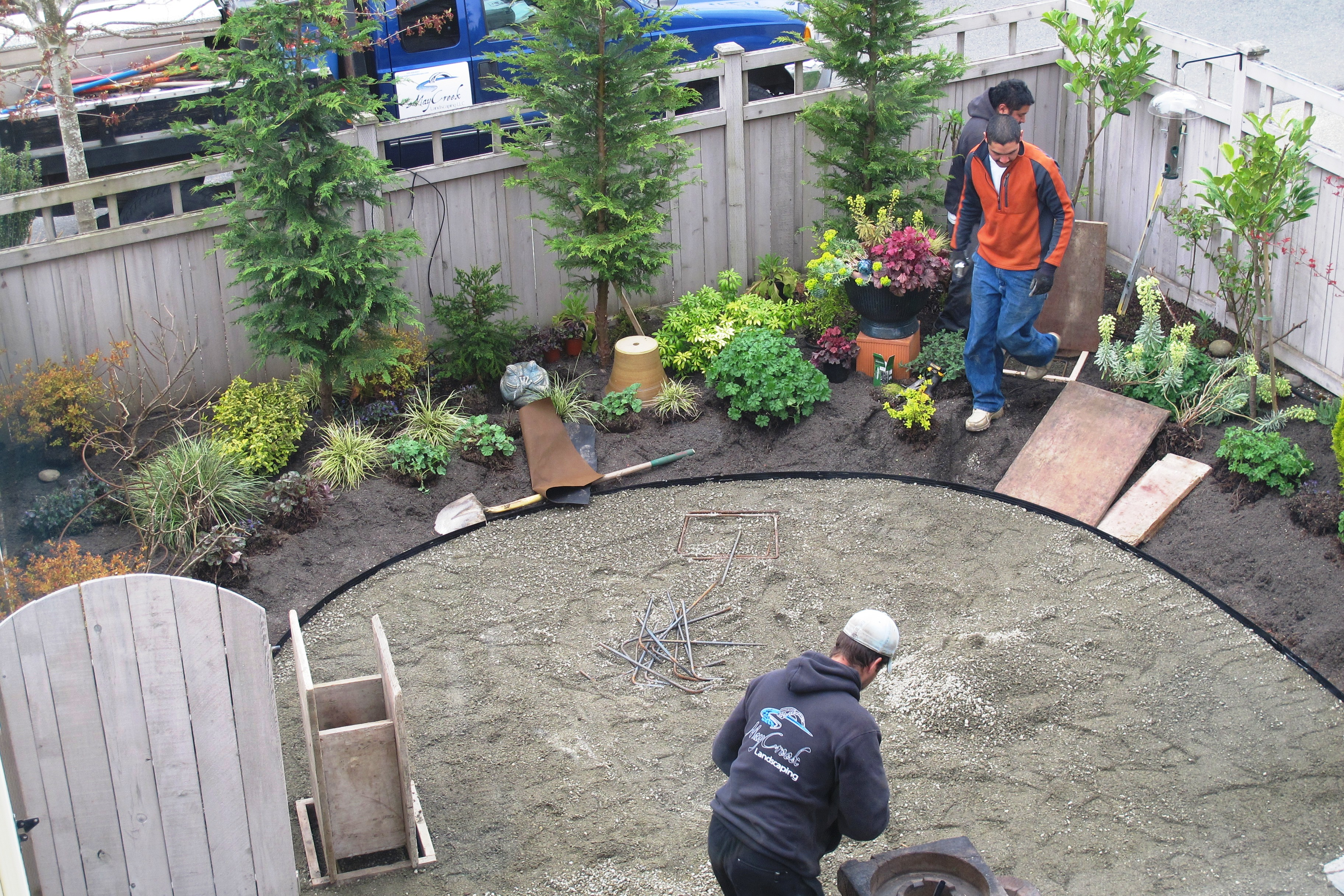 Cement Backyard Garden : Construction day one, 7 years in the making? no, waiting, yes, that